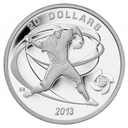 2013 Canadian $20 Celebrate Baseball: Pitcher - 1 oz Fine Silver Coin