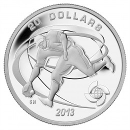 2013 Canadian $20 Celebrate Baseball: Fielder - 1 oz Fine Silver Coin