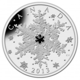 2013 Canada Fine Silver $20 Coin - Crystal Series: Winter Snowflake