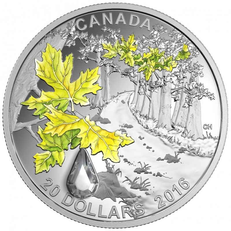 2017 Canada Jewel of the Rain - Sugar Maple Leaves with