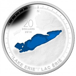 2014 Canada Fine Silver $20 Coin - The Great Lakes: Lake Erie