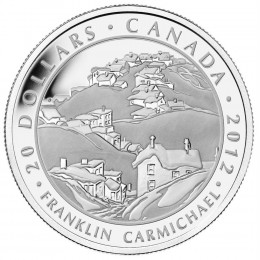 2012 Canada Fine Silver $20 Coin - Group of Seven: Franklin Carmichael - Houses, Cobalt