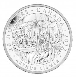2012 Canada Fine Silver $20 Coin - Group of Seven: Arthur Lismer - Nova Scotia Fishing Village