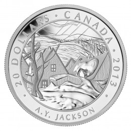 2013 Canadian $20 Group of Seven: A.Y. Jackson, Saint-Tite-des-Caps - 1 oz Fine Silver Coin