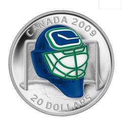 2008-2009 Canada Sterling Silver $20 Coin - NHL Goalie Masks: Vancouver Canucks