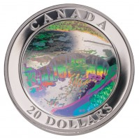 2003 Fine Silver 20 Dollar Coin - Natural Wonders: Niagara Falls