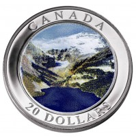 2003 Fine Silver 20 Dollar Coin - Natural Wonders: Rocky Mountains