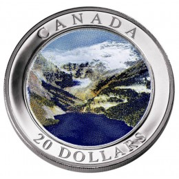 2003 Canada Fine Silver $20 Coin - Natural Wonders: Rocky Mountains