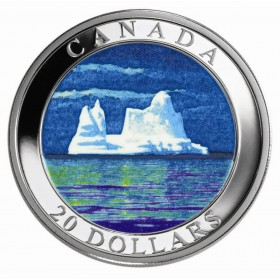 2004 $20 Royal Canadian Mint Northern Lights Silver Coin With Box /& COA
