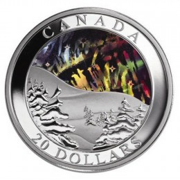 2004 Canada Fine Silver $20 Coin - Natural Wonders: Northern Lights