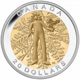 2014 Canadian $20 The Seven Sacred Teachings: Honesty - 1 oz Fine Silver & Gold-plated Coin