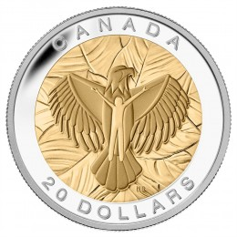 2014 Canadian $20 The Seven Sacred Teachings: Love - 1 oz Fine Silver & Gold-plated Coin