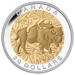 2014 Canadian $20 The Seven Sacred Teachings: Respect - 1 oz Fine Silver & Gold-plated Coin
