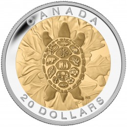 2014 Canadian $20 The Seven Sacred Teachings: Truth - 1 oz Fine Silver & Gold-plated Coin