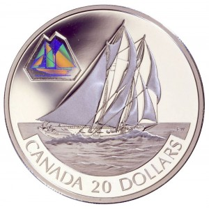 2000 Canada Sterling Silver $20 Coin - Transportation Series: The Bluenose