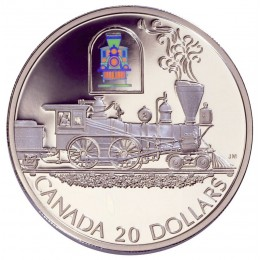 2000 Canadian $20 Transportation: The Toronto Steam Engine Sterling Silver Hologram Coin