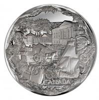 2008 Vancouver 2010 Olympic Games: Towards Confederation - Fine Silver 250 Dollar Kilo Coin