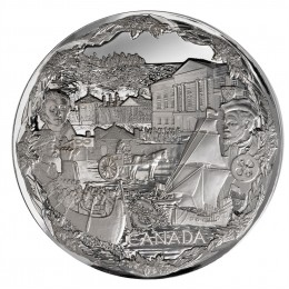 2008 Canadian $250 Vancouver 2010 Olympic Games: Towards Confederation Silver Kilo Coin -no outside box