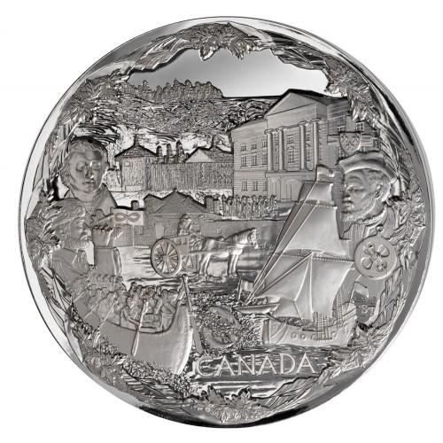 2008 Canada Fine Silver $250 Kilo Coin - Vancouver 2010 Olympic Games: Towards Confederation