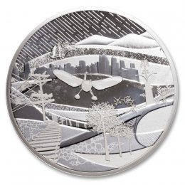2009 Canadian $250 Vancouver 2010 Olympic Games: Modern Canada Silver Kilo Coin -no outside box