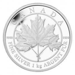 2012 Canadian $250 Maple Leaf Forever Fine Silver Kilo Coin