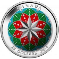 2014 Fine Silver 25 Dollar Coin - Christmas Ornament