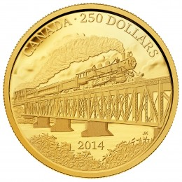 2014 (1914-) Canadian $250 Grand Trunk Pacific Railway - 2 oz Pure Gold Coin