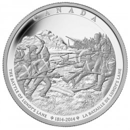 2014 Canadian $250 The Battle of Lundy's Lane - Fine Silver Kilogram Coin