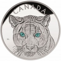 2015 Fine Silver 250 Dollar Kilo Coin - In the Eyes of the Cougar