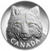 2017 Fine Silver 250 Dollar Kilo Coin - In the Eyes of the Timber Wolf