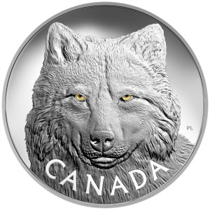 2017 Canada Fine Silver $250 Kilo Coin - In the Eyes of the Timber Wolf