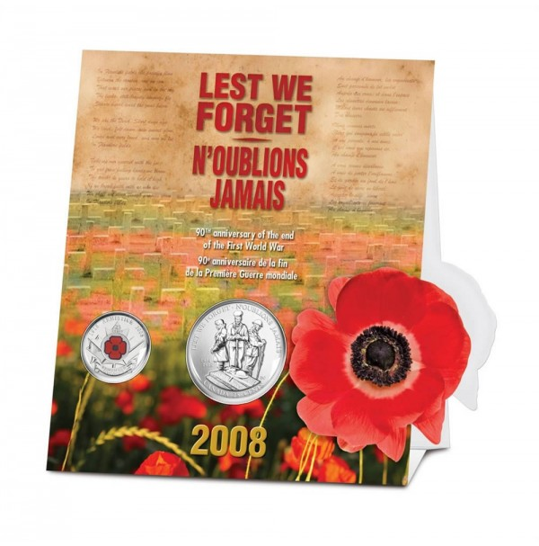2008 25 Cent Coin Set - 90th Anniversary of the End of the First World War