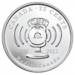 2011 Canada 25 Cent Coin - 75th Anniversary of CBC / Radio-Canada