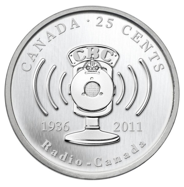 2011 25 Cent Coin - 75th Anniversary of CBC/Radio-Canada