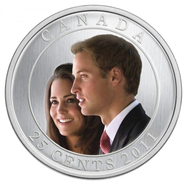 2011 25 Cent Coin - H.R.H. Prince William of Wales and Miss Catherine Middleton