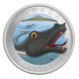 2011 Canada 25 Cent Coloured Coin - Canadian Mythical Creatures: Memphré