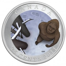 2011 Canada 25 Cent Coin - Canadian Mythical Creatures: Sasquatch