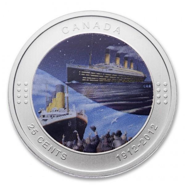 2012 25 Cent Coin - R.M.S. Titanic