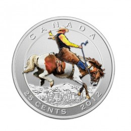 2012 Canada 25 Cent Coin & Stamp Set - 100 Years of the Calgary Stampede