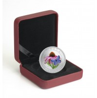 2013 25 Cent Coin - Purple Coneflower and Eastern Tailed Blue Butterfly