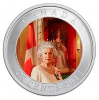 2013 25 Cent Coin - Her Majesty Queen Elizabeth II Coronation