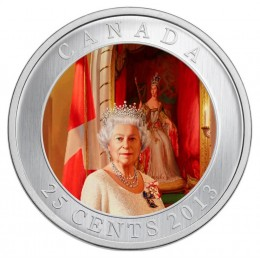 2013 Canada 25 Cent Coin - Her Majesty Queen Elizabeth II Coronation