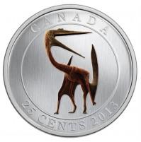 2013 25 Cent Coin - Prehistoric Animals: Quetzalcoatlus