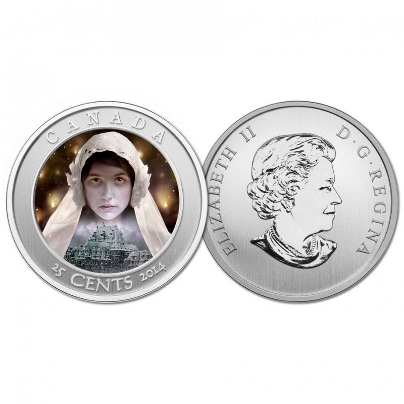 CANADA 2015 HAUNTED BRAKEMAN LENTICULAR 25 CENT COIN