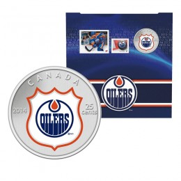 2014 Canada NHL® 25 cent Coin & Stamp Gift Set - Edmonton Oilers