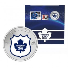2014 Canada NHL® 25 cent Coin & Stamp Gift Set - Toronto Maple Leafs
