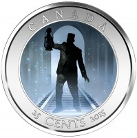 2015 25 Cent Coin - Haunted Canada: Brakeman