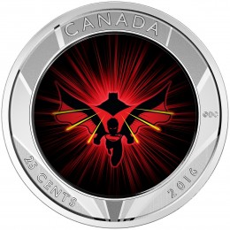 2016 Canadian 25-Cent Batman v Superman: Dawn of Justice™ - 3D Coin and Two Trading Cards