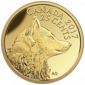 2017 Canadian 25-Cent Predator vs Prey Series: Inuit Arctic Fox - 0.5g Pure Gold Coin