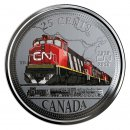 2019 (1919-) Canadian 25-Cent CN Railway 100th Anniversary Coloured Coin